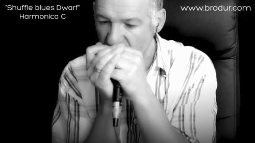 Product picture Shuffle Blues Dwarf - Harmonica C